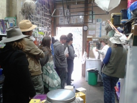 Jacky's permaculture design explained to our students