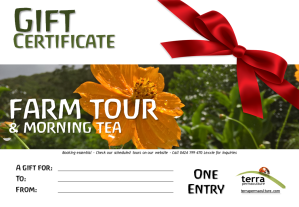 gift certificates farm tours